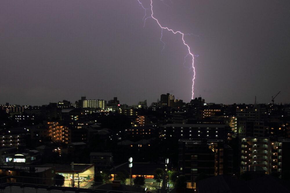 日本の落雷発生状況